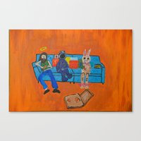 Couch Pizza  Canvas Print