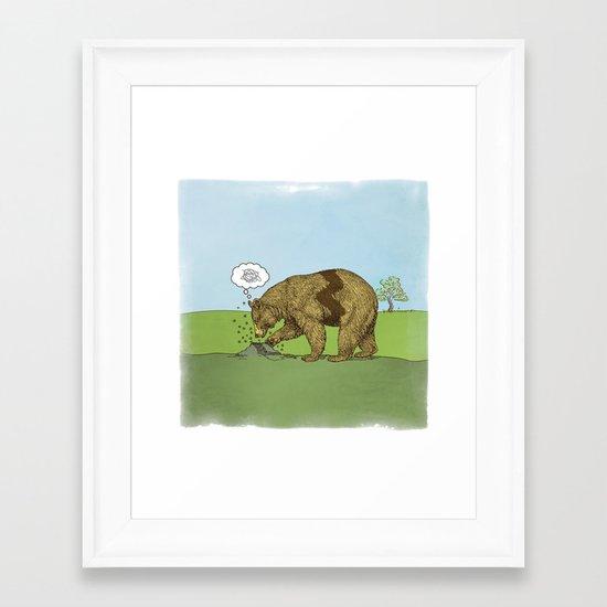 Charlie Brown Bear Framed Art Print