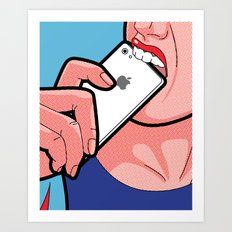SLOH - Biting the apple Art Print