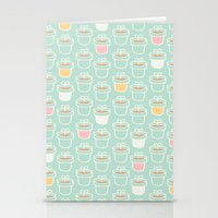 Potted Plants Pastels Stationery Cards