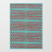 Field Of Strawberries Canvas Print