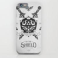 iPhone Cases featuring Legend of Zelda - The Hylian Shield Foundry by Barrett Biggers