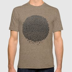 Black Sphere Mens Fitted Tee Tri-Coffee SMALL