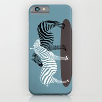 iPhone & iPod Case featuring Zebra Embrace by Inque
