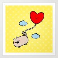 Kimmi's Love Is 0n Cloud… Art Print