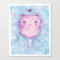 Cotton Candy Kitty Canvas Print