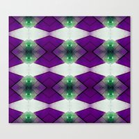 Purple Diamonds Canvas Print