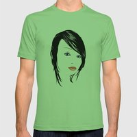 minimal girl 1 Mens Fitted Tee Grass SMALL