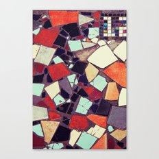 Colorful Abstract Mosaic No.2 Canvas Print