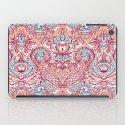 Natural Rhythm - a hand drawn pattern in peach, mint & aqua iPad Case