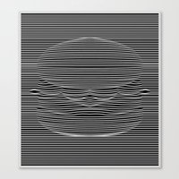 Cheeseburger Optical Ill… Canvas Print