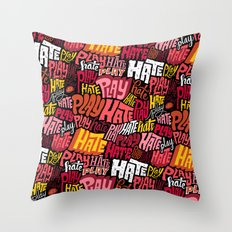Play/Hate Pattern Throw Pillow