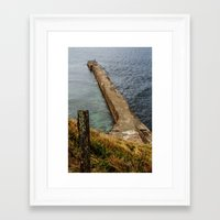 Cross the border Framed Art Print