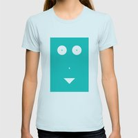 Woman Womens Fitted Tee Light Blue SMALL