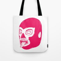 Pink Luchador Tote Bag