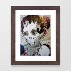 Day of the Dead Flamenco Dancer Portrait Framed Art Print