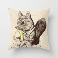 Strange Fox Throw Pillow
