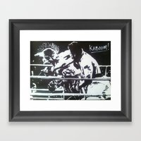 The Rumble Framed Art Print