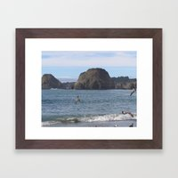 BeachV Framed Art Print