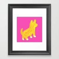 Shibainu dog Framed Art Print
