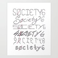 Six Society Sixes Art Print