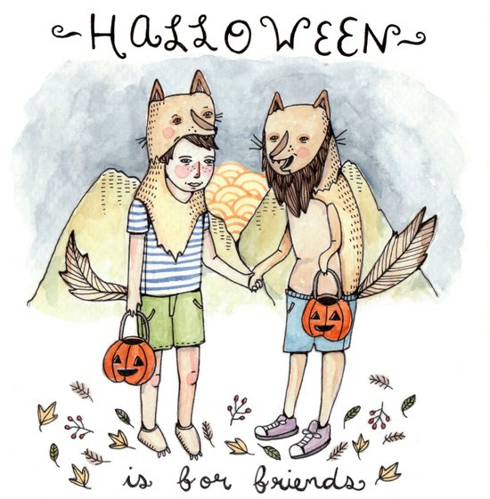 Halloween Friends Art Print