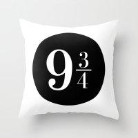 Platform 9 3/4 Throw Pillow