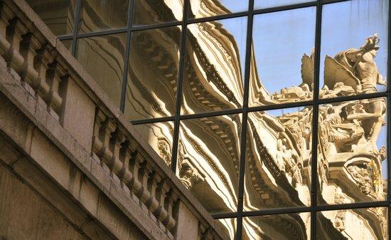 Grand Central Full Facade Reflection Art Print