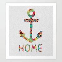 You Make Me Home Art Print