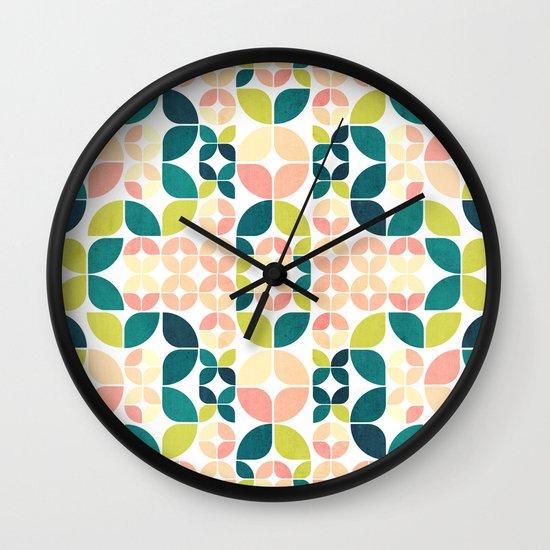 Rose Garden Pattern Wall Clock