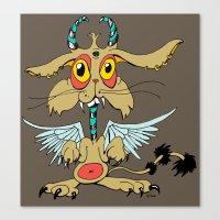 Evil Flying Feline Jacka… Canvas Print