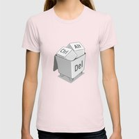 Keyboard Womens Fitted Tee Light Pink SMALL