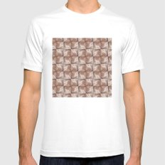 Wall Pattern Mens Fitted Tee SMALL White