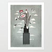 Sock Monkey Art Print