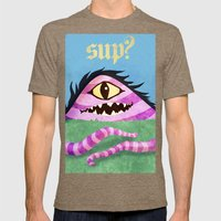 One Eyed Hill Monster Mens Fitted Tee Tri-Coffee SMALL