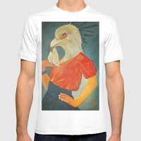 Secretary Bird Mens Fitted Tee White SMALL