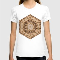 Earthy kaleidoscope Womens Fitted Tee White SMALL