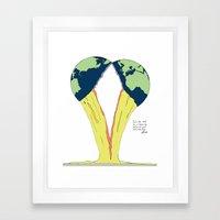 Crack the world. Framed Art Print