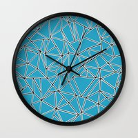 Shattered Ab Blue Wall Clock
