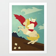Forward! Art Print