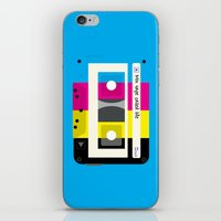CMYK Mix tape called life iPhone & iPod Skin