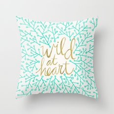 Wild At Heart – Turquo… Throw Pillow