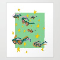 Summer Stamp Art Print