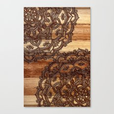 Burnt Wood Chocolate Doodle in warm neutral brown / tan tones Canvas Print