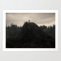 Up In the Woods, Down in My Mind Art Print
