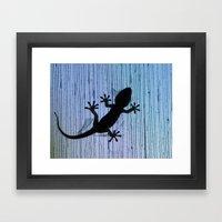 Gekkota Gecko Baby 8286 Framed Art Print