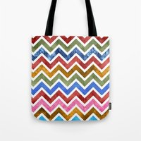 Chevrons in Color Tote Bag
