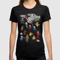 Star Trek The Reanimated Series Womens Fitted Tee Tri-Black SMALL