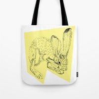 Yellow Hare Tote Bag
