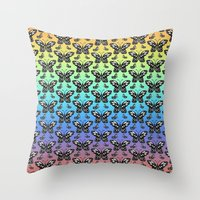 Butterfly pattern in color Throw Pillow